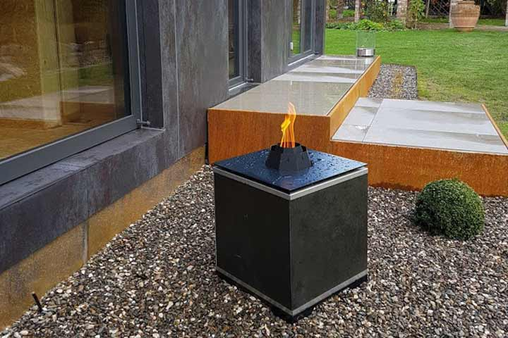 Feuerelement LE Firecube LE Projectsline